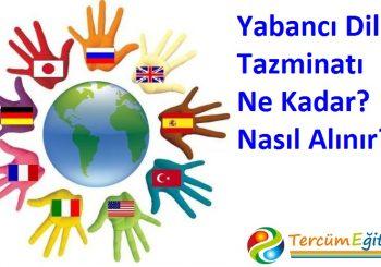 2017 Yılı Yabancı Dil Tazminatı